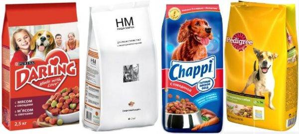 Rating dry food for small dogs